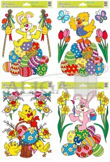 Easter stained glass windows STEG-5005
